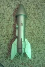 Silver Rocket space Ship Bank Astro MFG Berzac Creation RD 1957-A works Used vtg