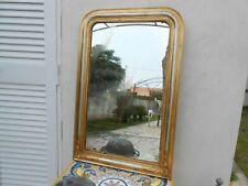 Antica specchiera Francese Luigi Filippo in foglia oro e argento 96 cm x 63 cm