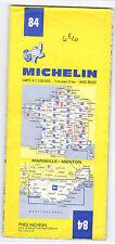 CARTE TOURISTIQUE MICHELIN N° 84 MARSEILLE/MENTON