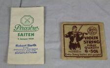 Kleines Preisheft PIRASTRO SAITEN vom Januar 1939 + Herdim Saiten Tütchen  /S336