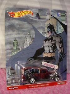 2016 DC Comics Hot Wheels Batman '34 DODGE DELIVERY BUS☆Burgundy☆Real Riders☆Pop