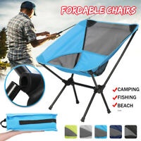 Portable Foldable Camping Chair Folding Fishing Chair Collapsible Beach  6 R