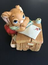 Pendelfin Rabbit Boswell Red Pants Hand Painted Made In England Sitting At Desk