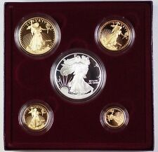 1995-w American Silver and Gold Eagle Proof Coin Collection 2 Cases W/ COA