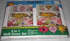 Little Miss 2 in 1 Quilt Cover Set Single Little Miss Sunshine Brand New Mr Men