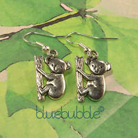 FUNKY KOALA EARRINGS CUTE KITSCH SWEET OZ ANIMAL COOL FUN NOVELTY RETRO ZOO GIFT