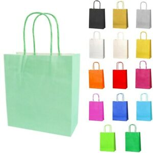 Luxury Kraft Paper Gift Party Bags With Twisted Handles Recyclable 18x8x20cm