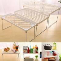 Folding Storage Shelf Rack Holders Organizer Kitchen Bathroom Home Cabinet Stand