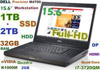 # 3D Design DELL M4700 i7-QUAD (1TB SSD + 2TB HDD) 32GB Quadro K1000M 15.6 FHD