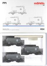 Märklin HO #4854 DB EVA Tank Car Set, New in Box, Sold 1994 only