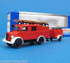 Roco H0 1375 MERCEDES L 1500 LF 8 mit Anhänger Feuerwehr MB OVP HO 1:87