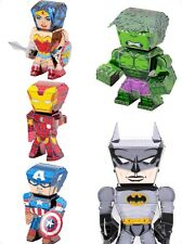 Fascinations Metal Earth Legends: Dc Justice League & Avengers! Lot Of 5!