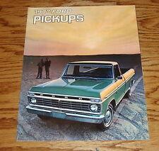 Original 1973 Ford Truck Pickup Sales Brochure 73 F-100 F-250