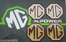 MGF MG F Alloy wheel centre cap badge inserts 4 off Burgandy & Cream