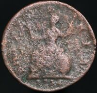 1734 | George II Farthing | Copper | Coins | KM Coins