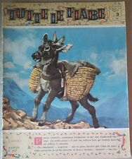 TUTTE LE FIABE DELLA NONNA -L'ASINO- RIVISTA DEL 1962- ANNO 1 N.3  PER BIMBI