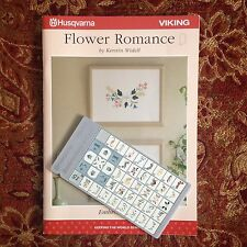 Husqvarna Viking Flower Romance Embroidery Designs D-Card #15 for Designer II