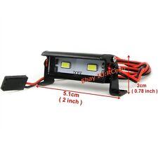 RC 1/10 Aluminum LED Light Bar 6V ~ 7.4V JR Plug 2 lights F Axial RC4WD Tamiya