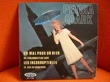VINYL 45 T – PETULA CLARK : MAL POUR UN BIEN + 3 – GAINSBOURG POP JERK YEYE 60'S