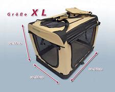 Faltbare Hunde Transportbox Auto Hundebox Box Größe XL Beige-Schwarz Hund Box