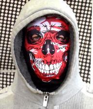 Rouge Camouflage Crâne Visage Amusant Horreur 3D Masque Tissu Cerf Nuit Robe