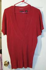 Womens Clothing Moda Victorias Secret Feather Weight Rib Knit Pullover Top Large