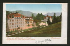 AUSTRIA TO SERBIA-TRAVELED OLD POSTCARD-VILLACH-1900.