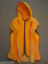 Lululemon Glacier Fleece Line Hood Vest Jacket Burning Yellow 8 10