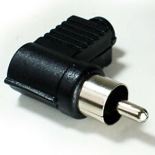 RCA/PHONO Right Angled Male Solder Connector -90 Degree Audio/Video Plug Adapter