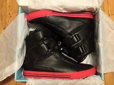 SUPRA TERRY KENNEDY TK SOCIETY BLACK/RED PERF LEATHER BRAND NEW SIZE 10