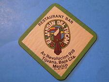 Beer Bar Coaster ~ EL JARDIN DEL TUCAN Restaurant & Bar ~ Tijuana, Baja, MEXICO