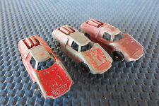 Lot of 3 Vintage FIAT ABARTH Tootsie Toys USA - Free Shipping