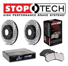 Mercedes W208 W210 Front StopTech Drilled Slotted Brake Rotors Sport Pads Kit