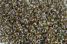8/0 Gold-Lined Rainbow Crystal Round Glass TOHO Seed Beads 10 grams #994