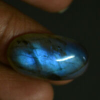 Cts. 18.25 Natural Blue Sheen Madagascar labradorite Cabochon Oval Cab Gemstone