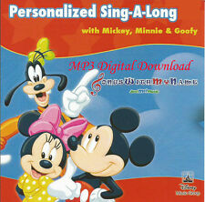 Personalized Sing-A-Long with Mickey, Minnie & Goofy Music - MP3 Digital Content