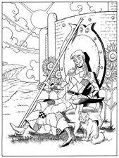 SHADOW OF OZ, Greg Espinoza 9X7 original art, Scraps, TAROT DECK ART