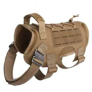 New Tactical Dog Harness No Pull Vest Military Service Canine Training 1000d 1