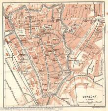 Antique map Utrecht plattegrond plan carte 1914