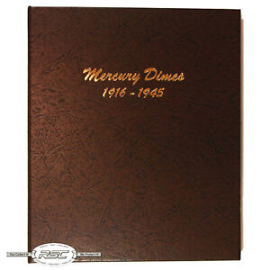 Dansco Coin Album #7123 - Mercury Dimes (1916 - 1945)