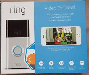 Ring Vidéo Doorbell 1 - Sonnette de Porte Vidéo Connectée ( + 1 Sticker Offert )