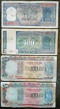 100 rs 4 different types old note