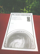Black+Decker 12 Cup Coffeemaker CM1060 Instructions Eng/Span/French
