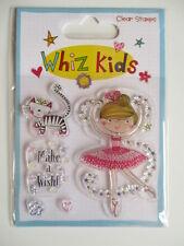 Whiz Kids Clear Stamps - Ballerina , Make a Wish , Cat