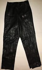 WOMEN'S M, BLACK 100% LEATHER PANTS BY BARBARA BATES!