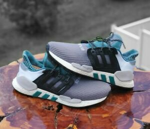 ADIDAS EQUIPTMENT ADV 91-18 Boost Sneakers, Mens 11.5 running shoes, green gray