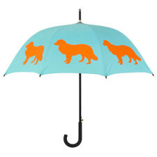 Border Collie Dog Print Umbrella Orange/Blue San Francisco Umbrella Company