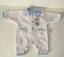 Zapf Creation Little Chou Chou Doll Clothes Romper White Blue Gingham with Bears