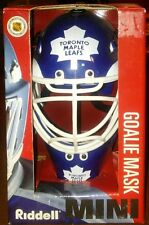 Toronto Maple Leafs NHL Riddell Mini Goalie Hockey Mask In Box