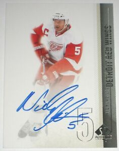 NICKLAS LIDSTROM SIGNED 10-11 UPPER DECK SPA RED WINGS CARD AUTOGRAPH AUTO!!